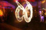 jongleur de feu avec pyrotechnie en extérieur à Quimper 29