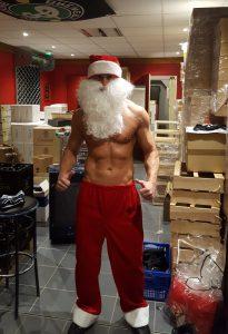 Stripteaseur Père Noël à Nantes 44