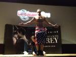 spectacle striptease pour la sortie du film Cinquante nuances de Grey dans un cinéma à Nantes